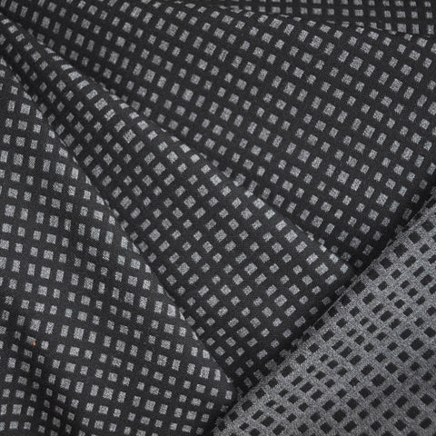 Double Twill Reversible Check Black/Grey