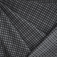 Double Twill Reversible Check Black/Grey - Fabric - Style Maker Fabrics