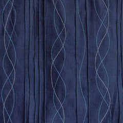 Embroidered Pintuck Chambray Navy - Fabric - Style Maker Fabrics