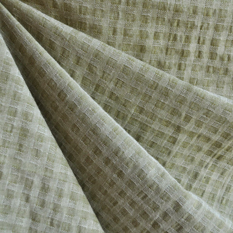 Woven Shirting Plaid Texture Soft Olive