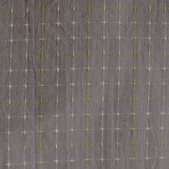 Woven Shirting Stitched Grid Taupe - Sold Out - Style Maker Fabrics