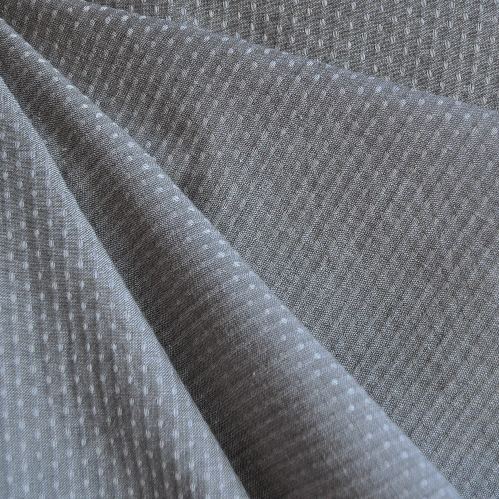Woven Shirting Dot Texture Grey - Sold Out - Style Maker Fabrics