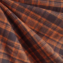 Cozy Cotton Flannel Plaid Pumpkin/Chocolate - Sold Out - Style Maker Fabrics