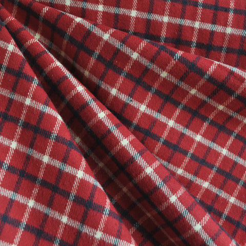 Cozy Cotton Flannel Plaid Red/Vanilla