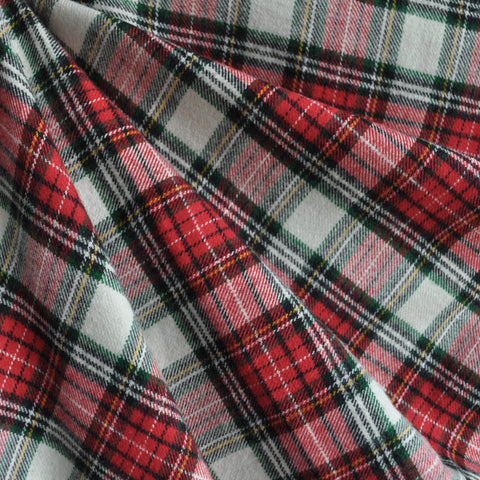 Cozy Cotton Flannel Royal Plaid Red/Hunter
