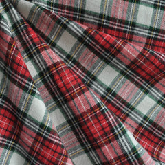 Cozy Cotton Flannel Royal Plaid Red/Hunter - Sold Out - Style Maker Fabrics