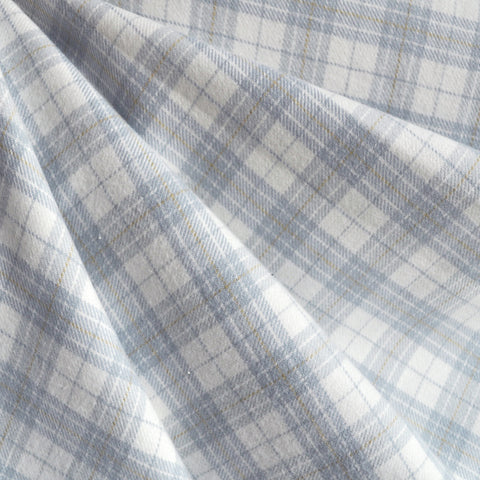 Cozy Cotton Flannel Soft Plaid Grey/Vanilla