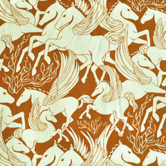 Helios Pegasus Rayon Challis Rust - Sold Out - Style Maker Fabrics