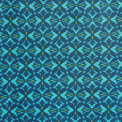Dreamweaver Tile Cotton Voile Turquoise - Sold Out - Style Maker Fabrics