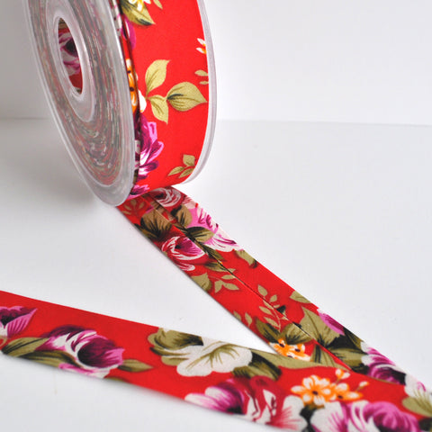Floral Cotton Bias Tape