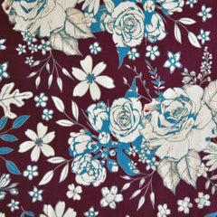 Floral Universe Jersey Knit Plum SY - Sold Out - Style Maker Fabrics