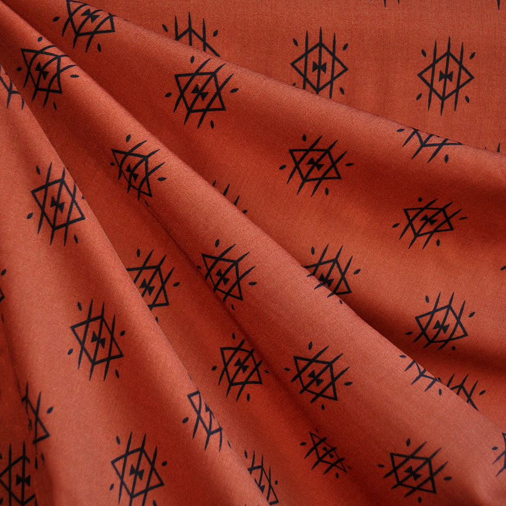 Arizona Ojos Rayon Flame - Sold Out - Style Maker Fabrics
