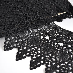 Deco Scroll Venise Lace Black 8 inch - Trim - Style Maker Fabrics