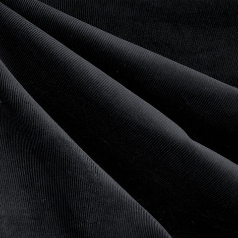 Classic Mid Wale Corduroy Solid Black
