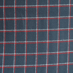 Mammoth Flannel Windowpane Plaid Navy/Red - Fabric - Style Maker Fabrics