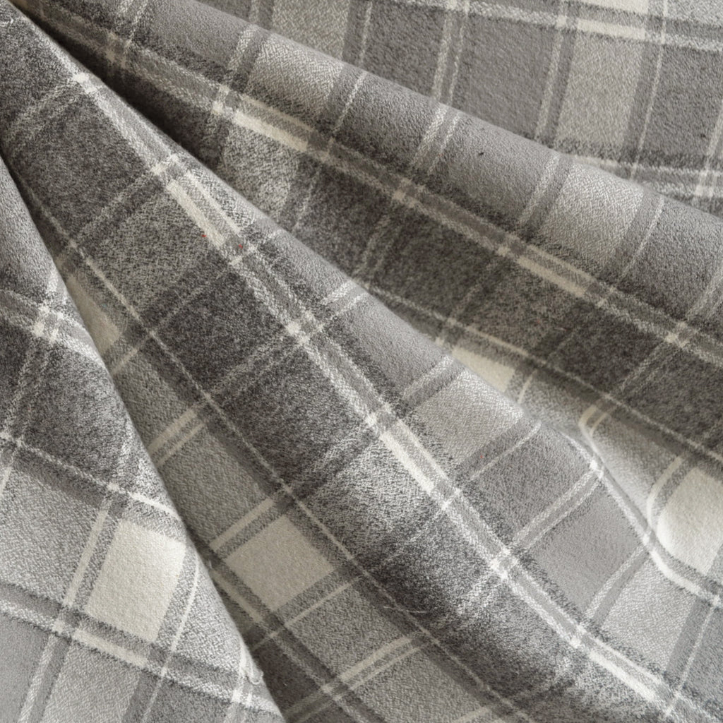 Mammoth Flannel Classic Plaid Grey/Vanilla - Fabric - Style Maker Fabrics
