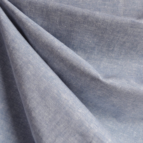 Brussels Washer Yard Dye Linen Blend Chambray