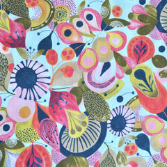 Watercolor Paisley Floral Cotton Multi - Fabric - Style Maker Fabrics