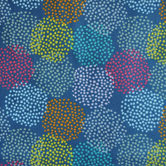 Watercolor Circle Dots Cotton Slate/Multi - Sold Out - Style Maker Fabrics