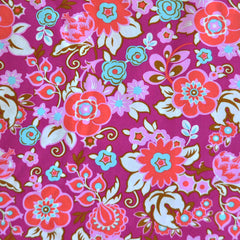 Soul Mate Floral Bouquet Poplin Fuchsia SY - Sold Out - Style Maker Fabrics