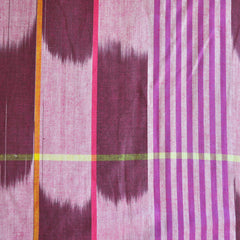 Loominous Shirting Ikat Stripe Berry SY - Sold Out - Style Maker Fabrics