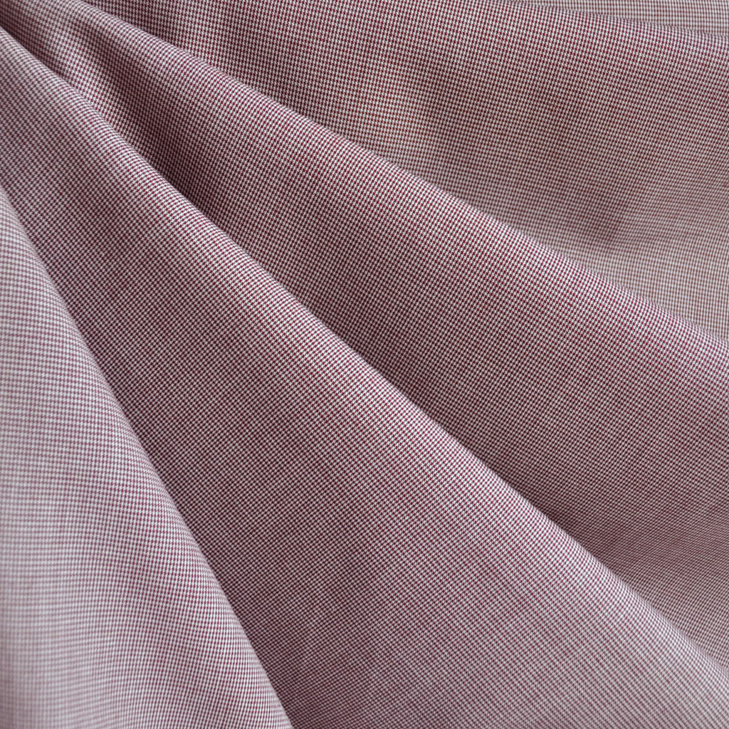 Micro Check Shirting Burgundy SY - Sold Out - Style Maker Fabrics