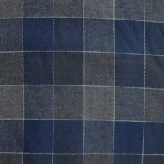 Large Plaid Check Flannel Navy/Chocolate - Fabric - Style Maker Fabrics