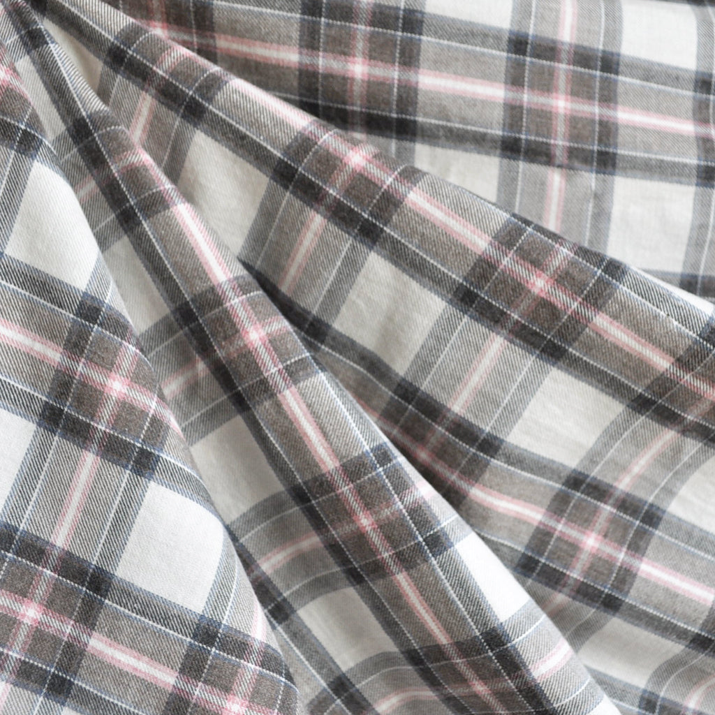 Winter Plaid Shirting Cream/Ballet Slipper - Sold Out - Style Maker Fabrics