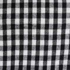 Gingham Check Flannel Black/White - Fabric - Style Maker Fabrics