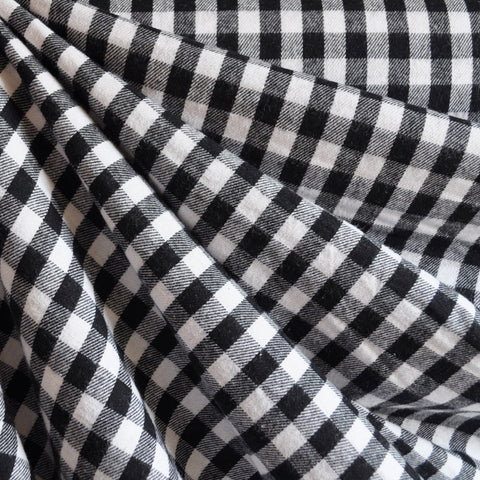 Gingham Check Flannel Black/White