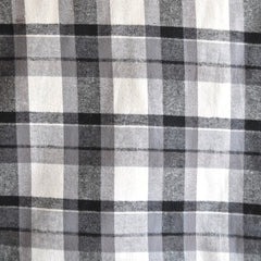 Plaid Flannel Shirting Grey/Cream - Sold Out - Style Maker Fabrics