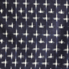 Double Ikat Shirting Navy/Cream - Sold Out - Style Maker Fabrics