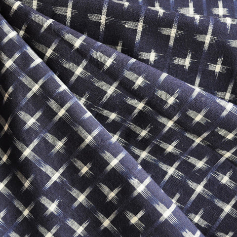 Double Ikat Shirting Navy/Cream