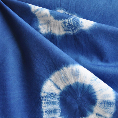 Shibori Cotton Lawn Bursts Indigo