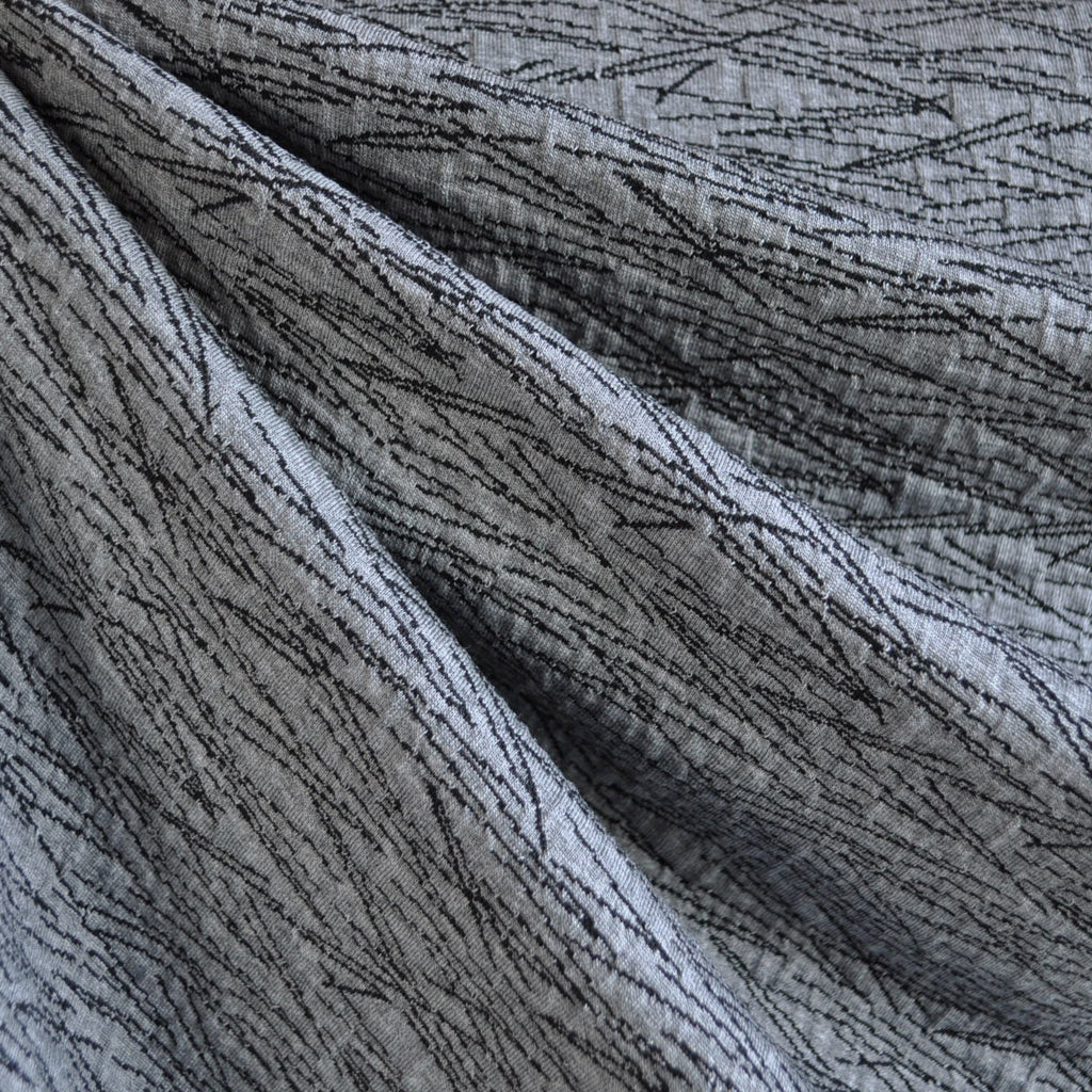 Stitched Double Knit Charcoal/Black - Sold Out - Style Maker Fabrics