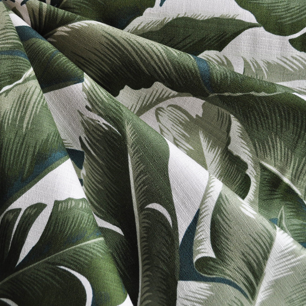 On the Lanai Barkcloth Leaves Forest - Sold Out - Style Maker Fabrics