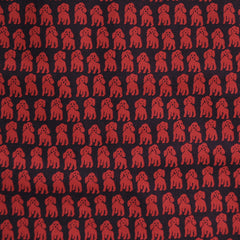 Japanese Cotton Lawn Hello Fido Red/Black - Fabric - Style Maker Fabrics