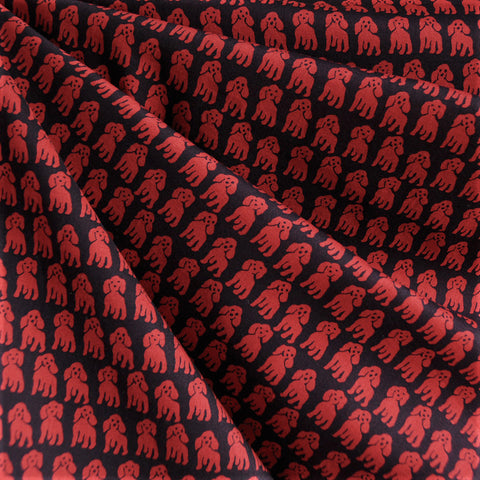 Japanese Cotton Lawn Hello Fido Red/Black