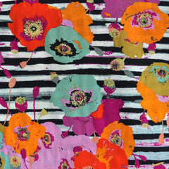 Spiced Poppy Stripe Rayon Multi - Sold Out - Style Maker Fabrics
