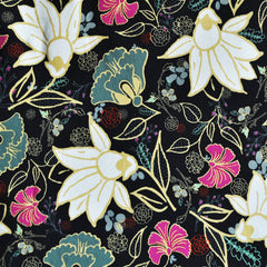 Willow Bloom Jersey Knit Black SY - Sold Out - Style Maker Fabrics