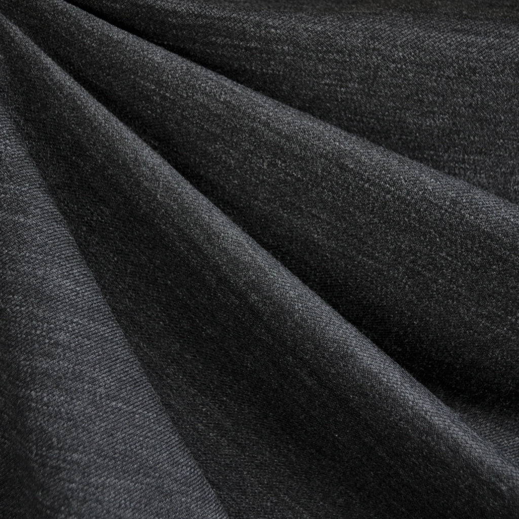Italian Textured Double Knit Heather Charcoal - Sold Out - Style Maker Fabrics