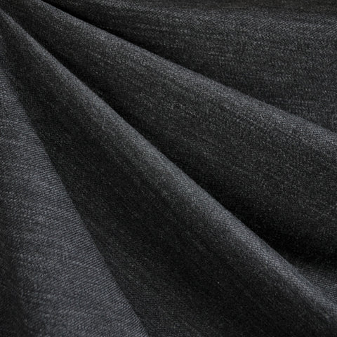 Italian Textured Double Knit Heather Charcoal