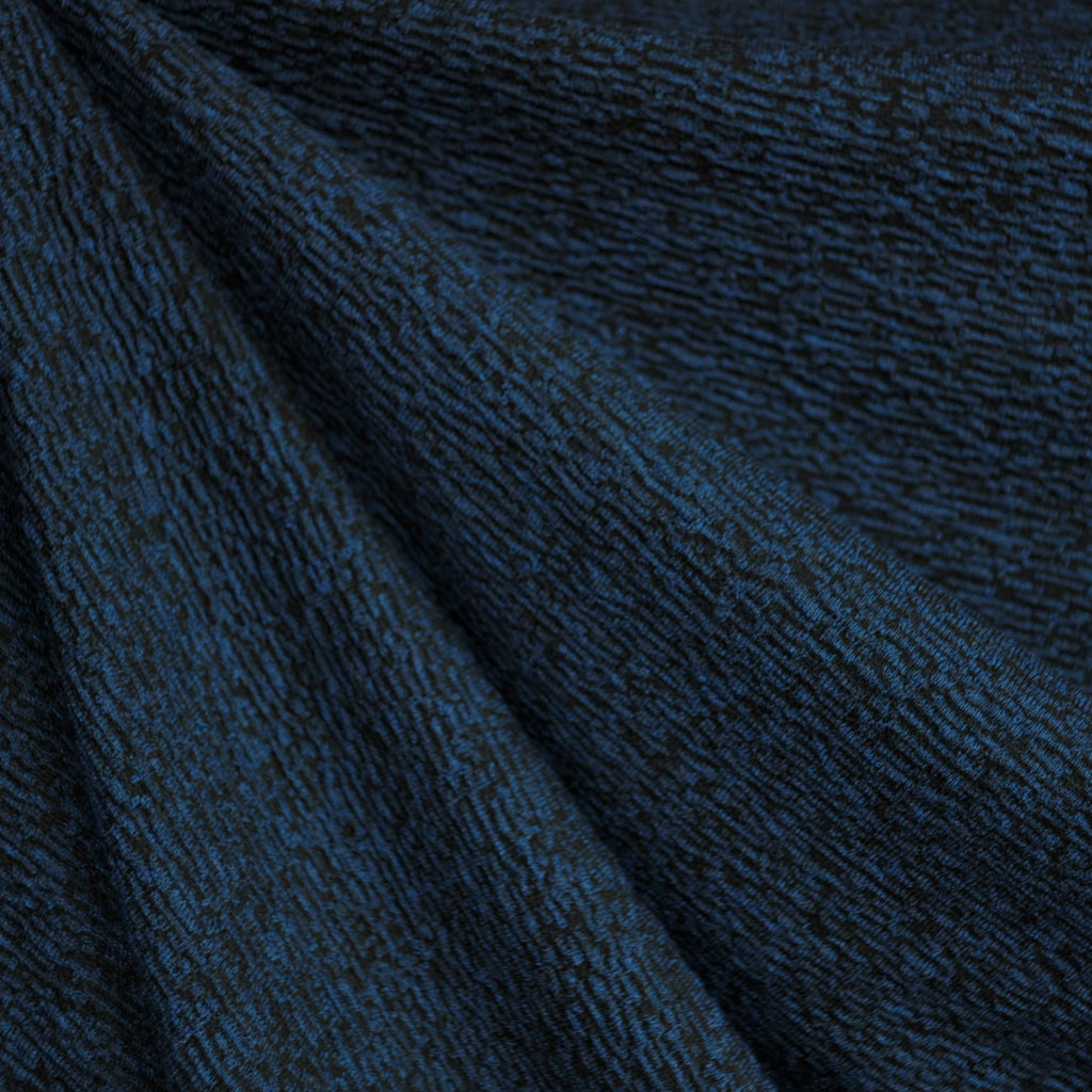 Italian Crinkle Texture Double Knit Navy/Black - Sold Out - Style Maker Fabrics