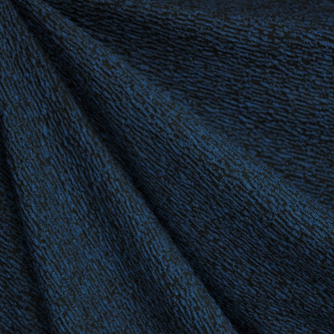 Italian Crinkle Texture Double Knit Navy/Black