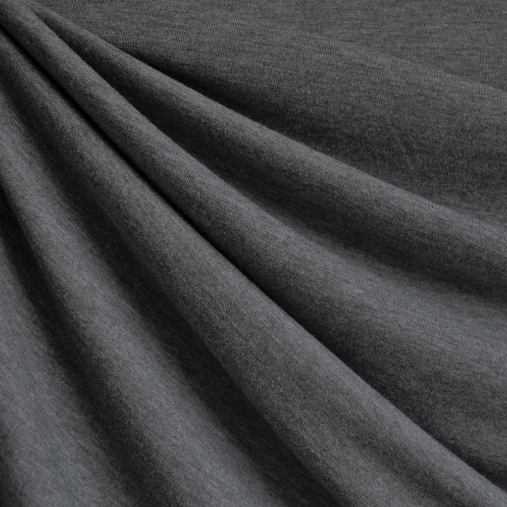 f1368f2bcb7da Wool Blend Jersey Knit Solid Charcoal SY - Sold Out - Style Maker Fabrics  ...