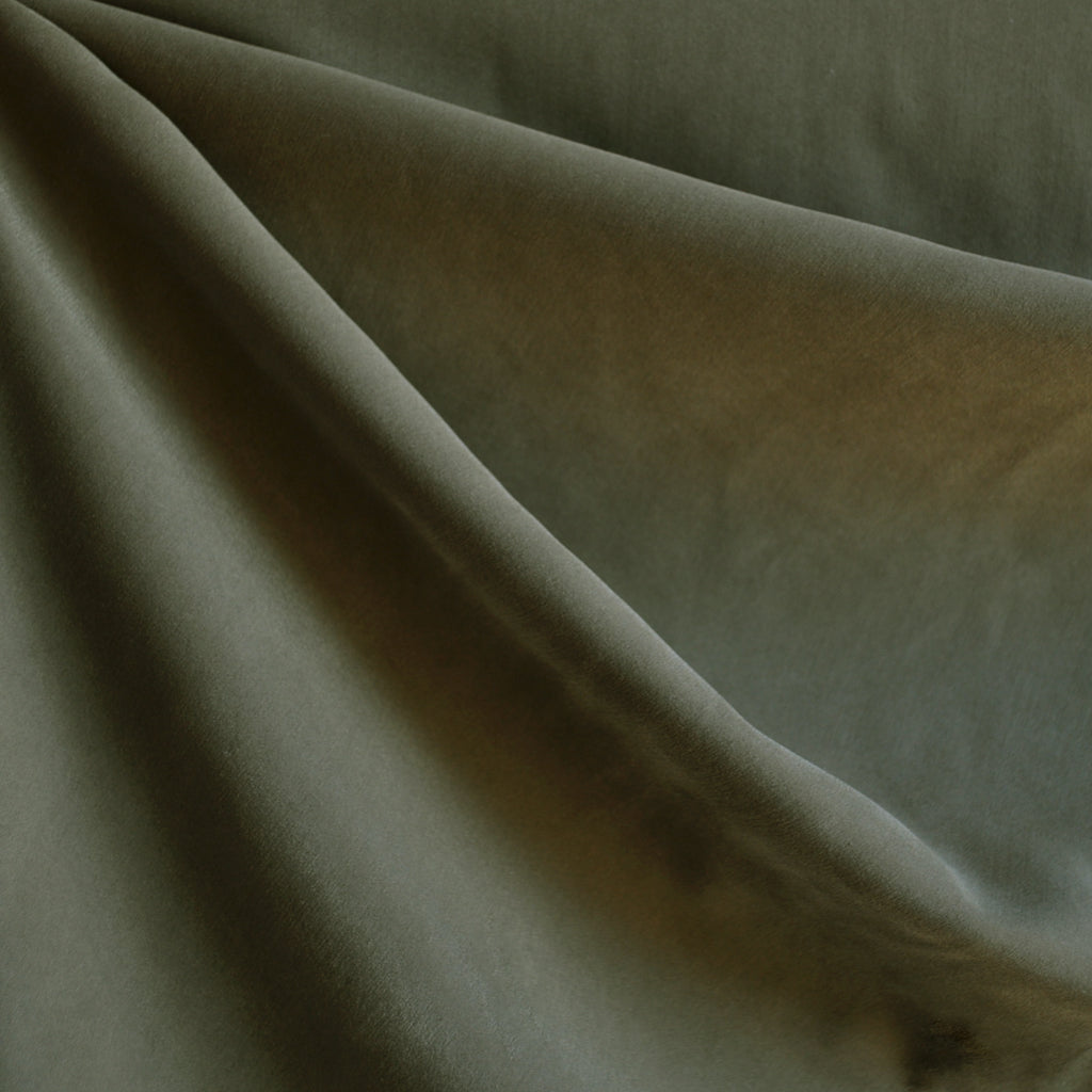 Sueded Modal Blend Shirting Olive - Fabric - Style Maker Fabrics