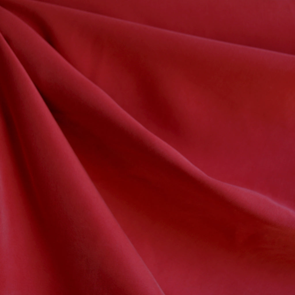 Sueded Modal Blend Shirting Red - Sold Out - Style Maker Fabrics