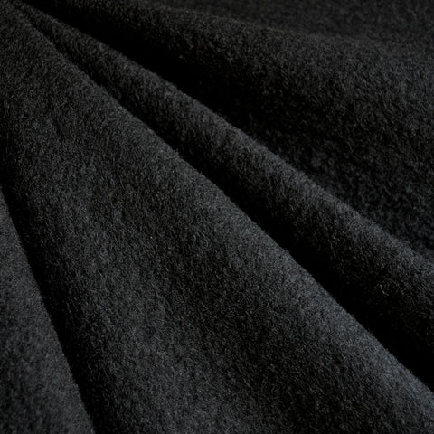 Wool Blend Boucle Coating Solid Black