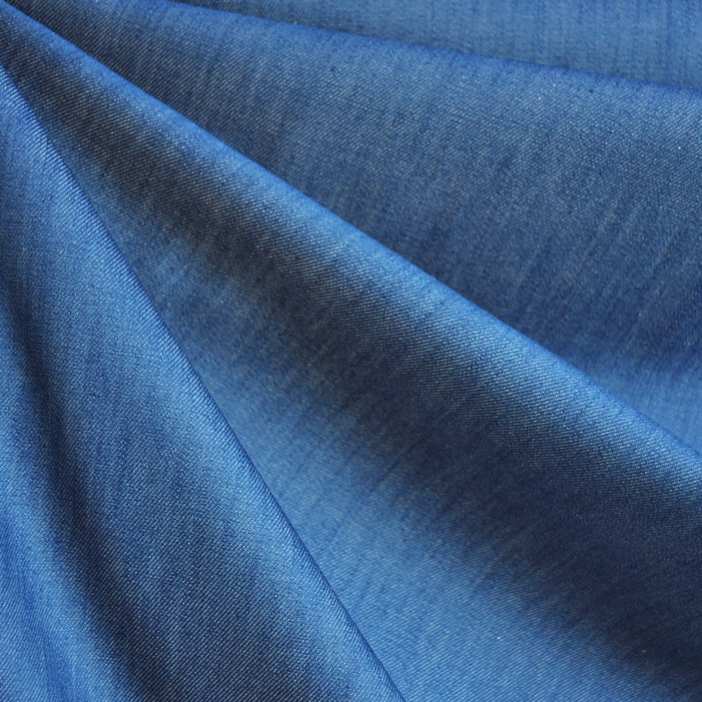 Washed Tencel Denim 8 Oz Cobalt - Sold Out - Style Maker Fabrics