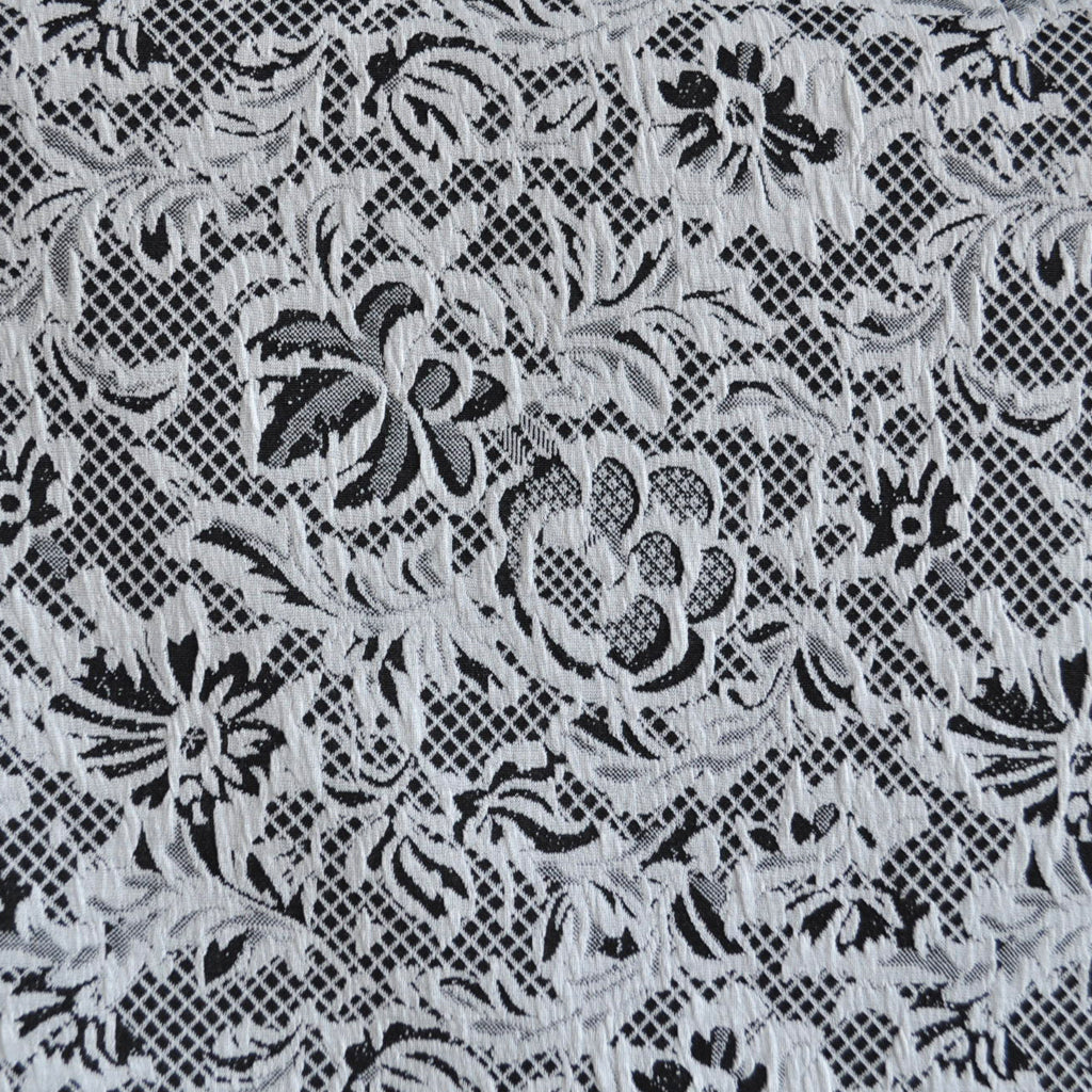 Floral Lace Texture Double Knit Black White Sy Style Maker Fabrics